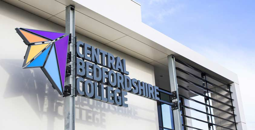 Central Beds College signage