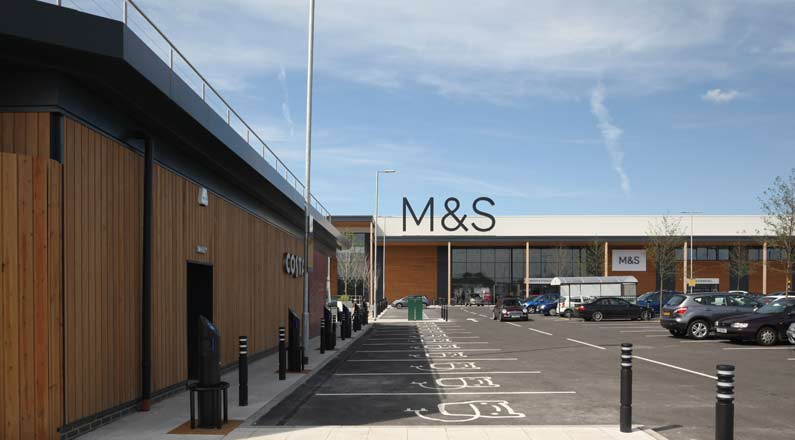 M&S car park, Chalrton Riverside